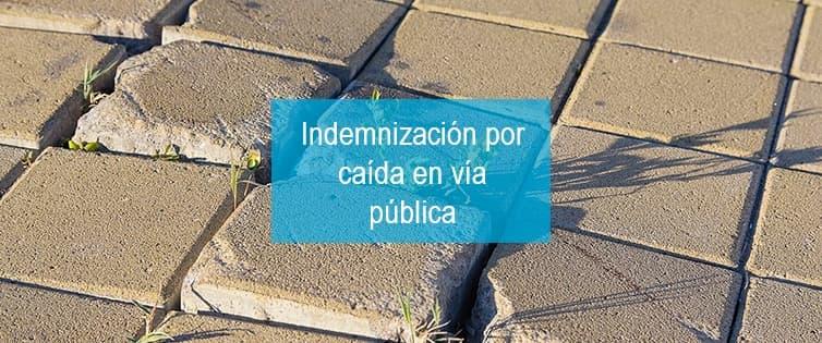 Indemnización por caída en vía pública