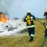 Quemaduras producidas en accidente de tráfico